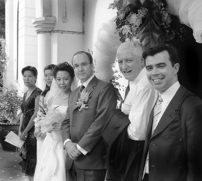 Warwick Kneale second from right at Khun Aoi & The Colonel's Wedding, Bangkok