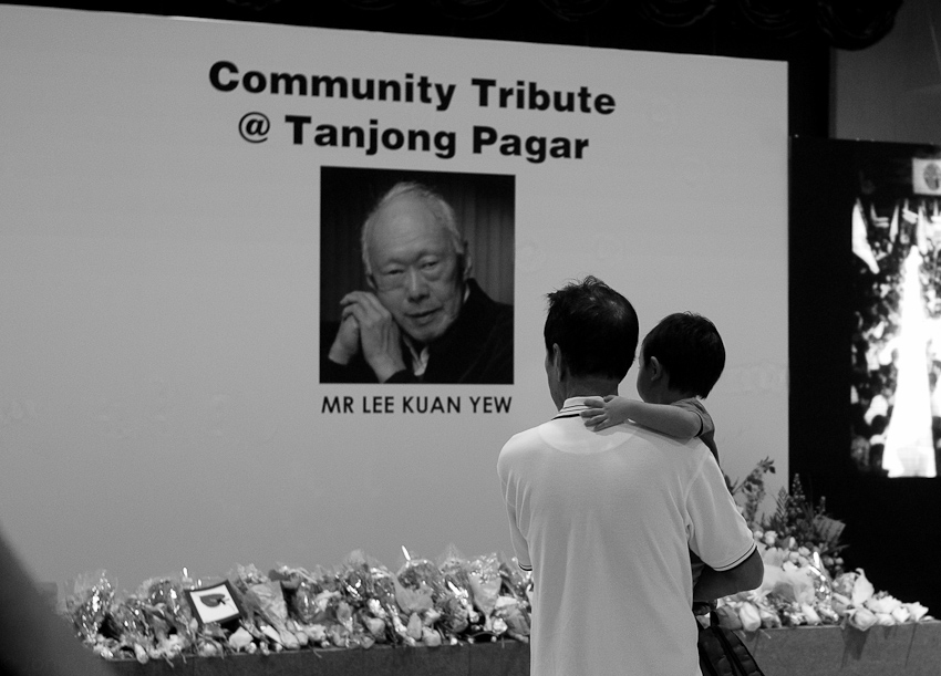 Paying tribute at Tanjong Pagar Community Centre