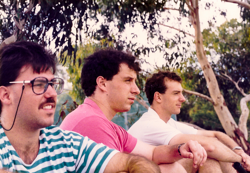 Tim, Jono & Colin at Turramurra Tennis Courts sometime around Summer 1988/1989