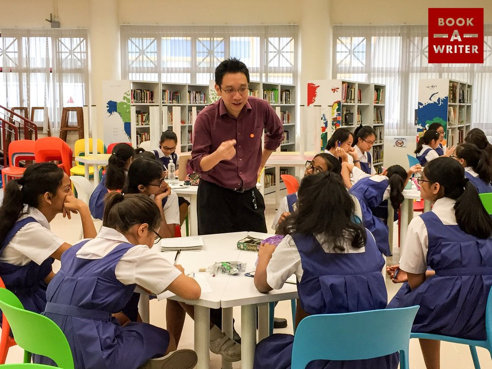 Book A Writer's Alvin Pang at CHIJ Katong Convent - Nov 2017