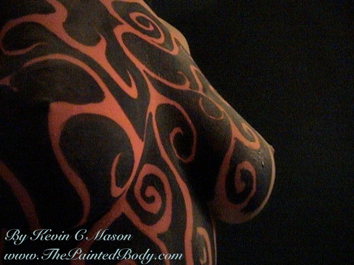 Tribal body painting