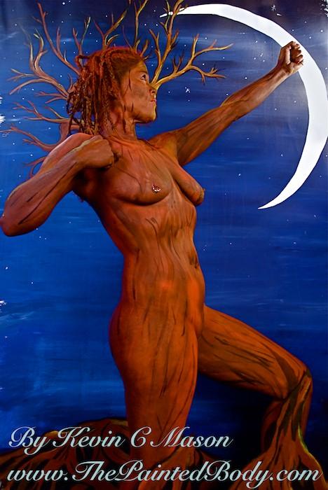 Artemus Goddess body painting