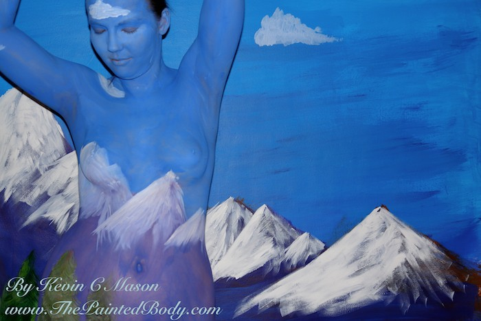 Mountains Body painting By Kevin C mason