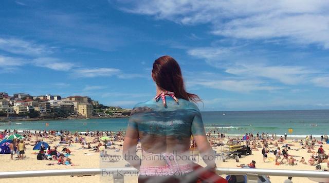 Bondi Beach Bodypainting by artist Kevin C Mason