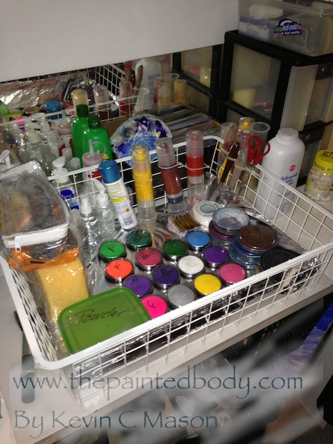 All my Bodypaint in its new home!! So much nicer!! Everything has its place ..everything easy to access.. Portable too :)