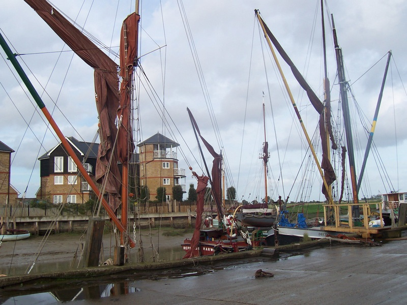 Barges at Faversham Creek
