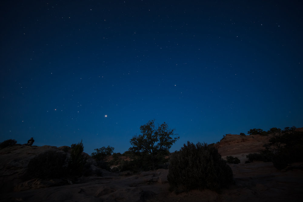 Early morning stars at Mesa Arch, Canyonlands NP