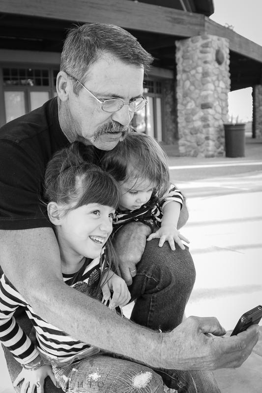 Nina's uncle Mike with Ava & Alana...