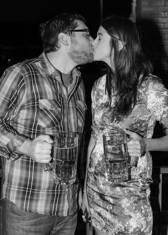 Brandon & Katie are getting married next October - cheers!