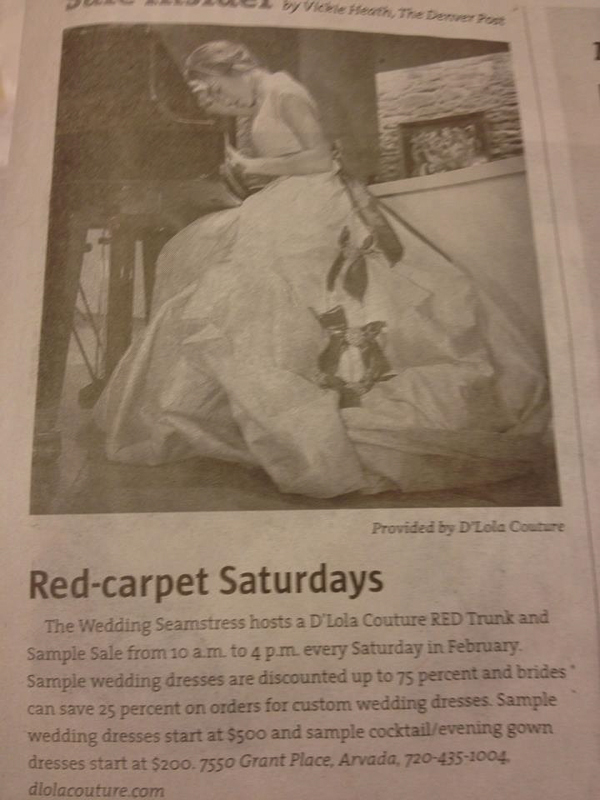 For D'Lola Couture : The Denver Post 2.11.13 Unfortunately they neglected to give a photo credit.