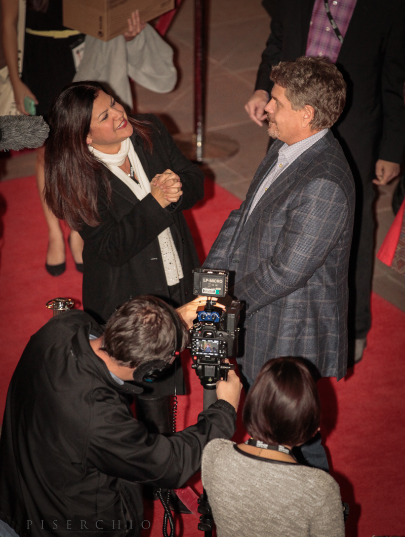 Director John Wells (August:Osage County) being interviewed by Fox 31 reporter, Ginger Delgado