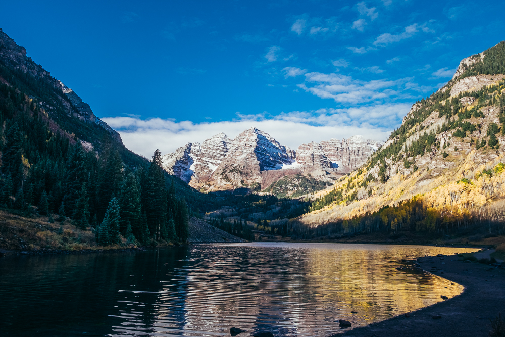 Sunrise on the Maroon Bells...