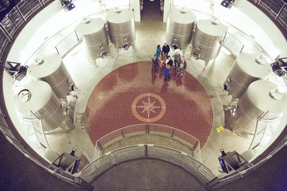 Fermentation tanks on the lower level...