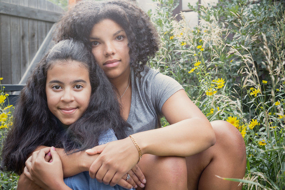 With her beautiful sister, Malia...