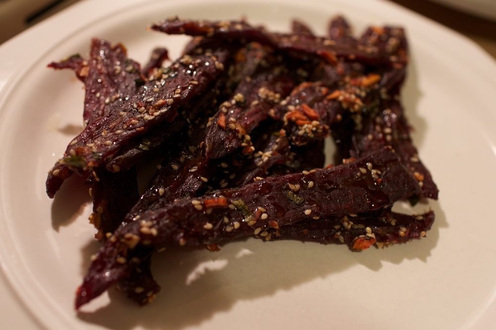 The final product! Korean Bulgogi Beef Jerky!