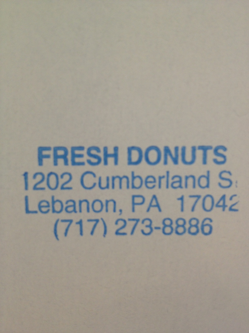Fresh Donuts Stamp