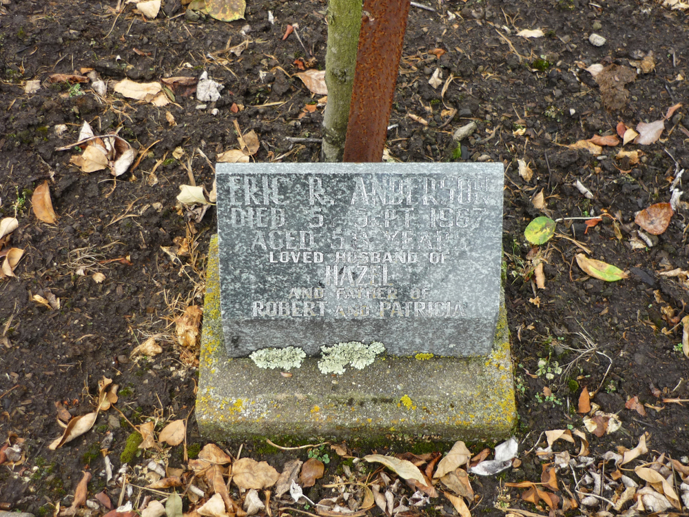 Memorial to Eric Robert Anderson