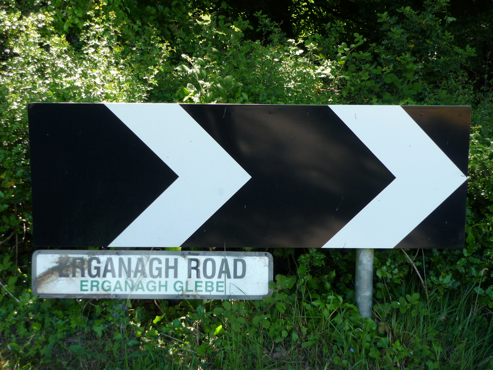 Erganagh Road/ Glebe Road Sign