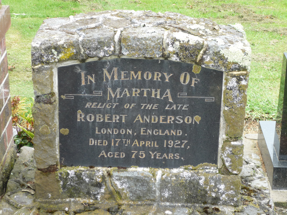 Grave of Martha Anderson