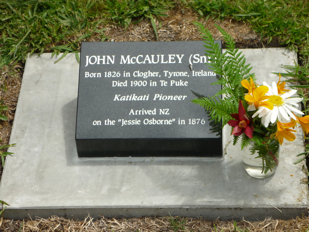 Grave of John Snr. McCauley