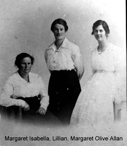 Margaret Isabella, Lillian and Margaret Olive Allan