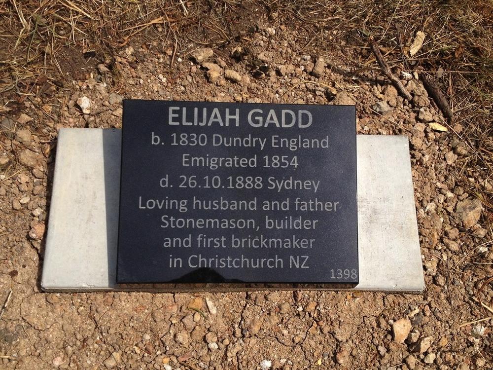 Gravestone for Elijah Gadd