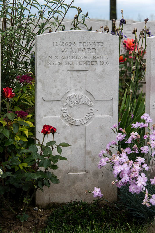 Grave of William Alexander Ford, Danzig Alley British Cemetery, plot 7, row F, grave 5