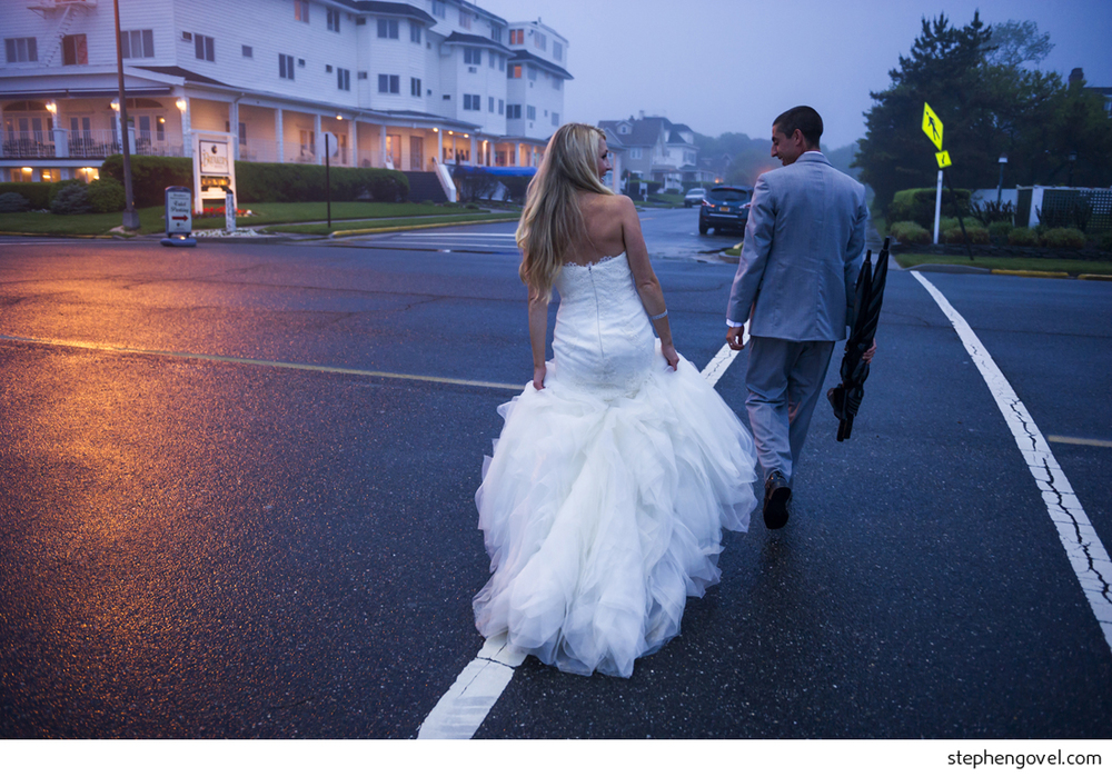 new jersey beach wedding breakers rain