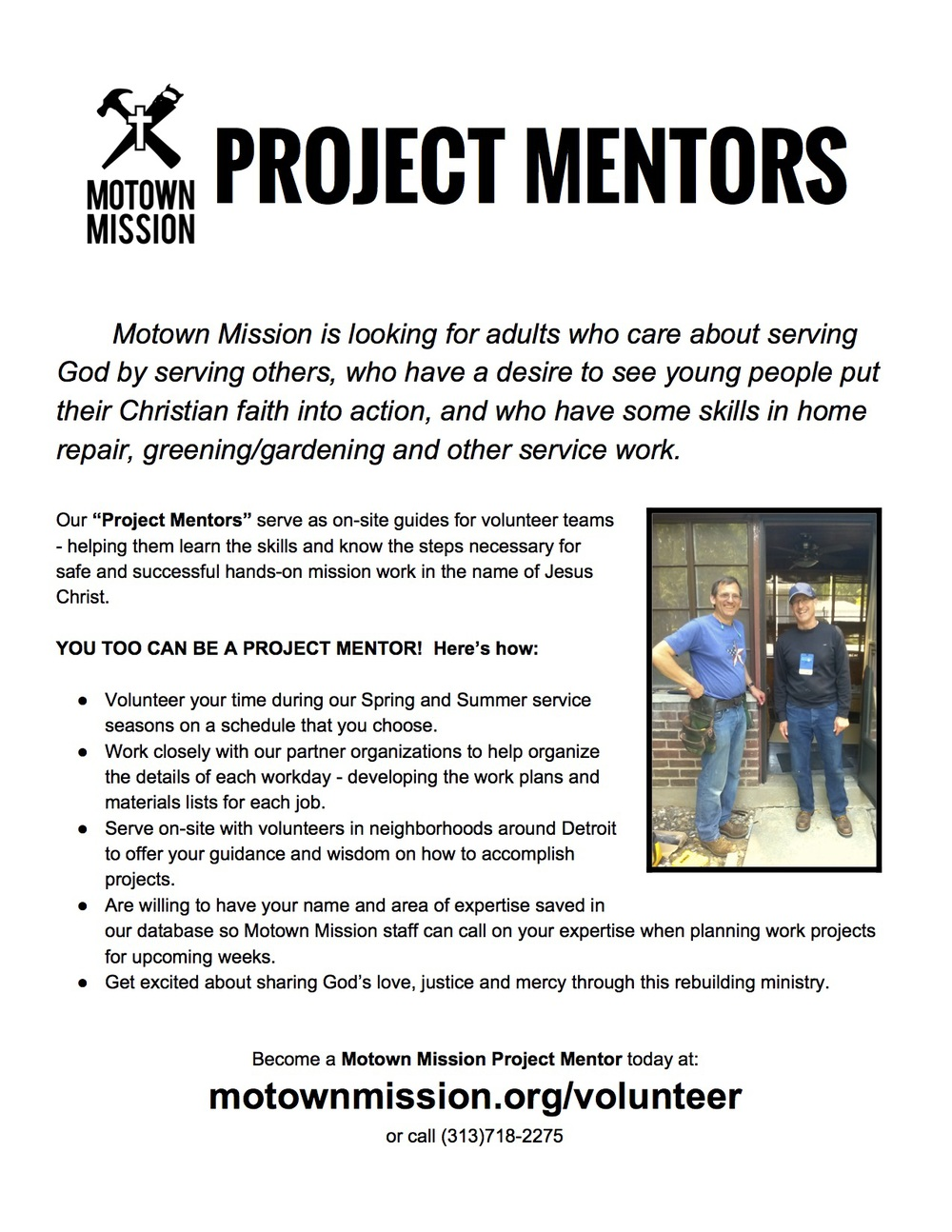 Click here to download this Project Mentors info sheet to share with other skilled persons in your church or community.