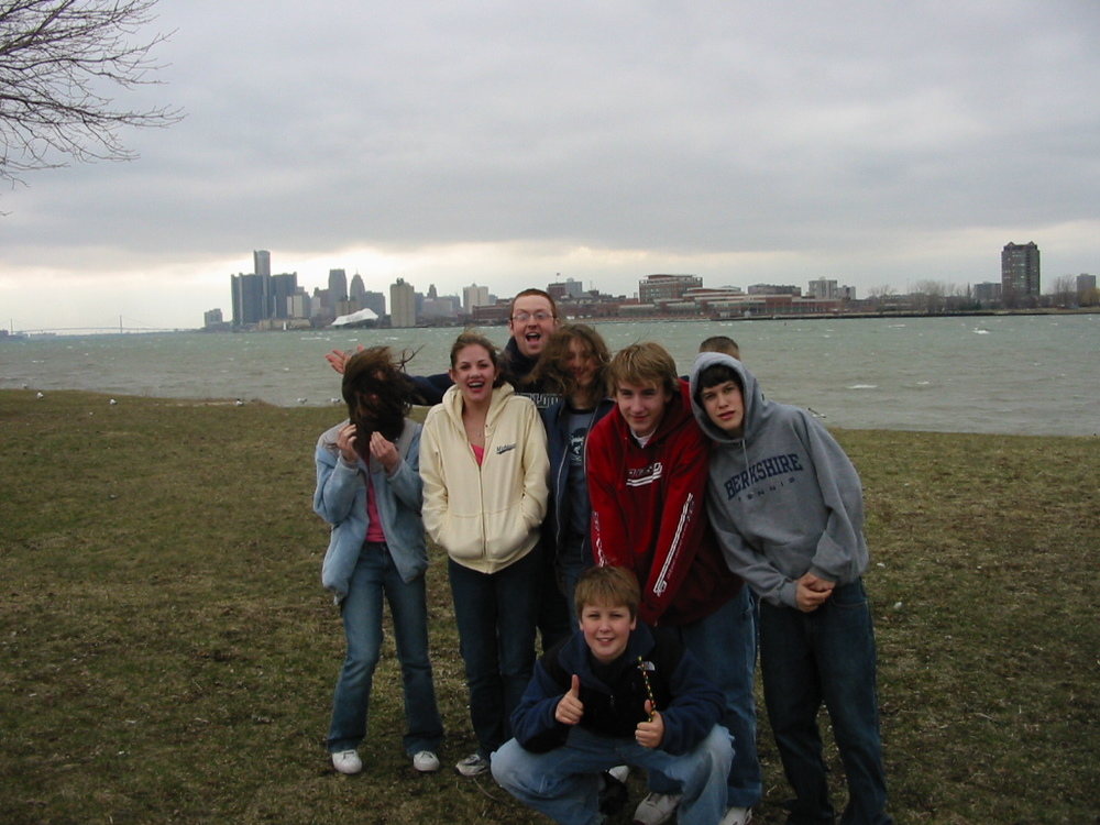 First Motown Mission team on beautiful Belle Isle, April 2005.