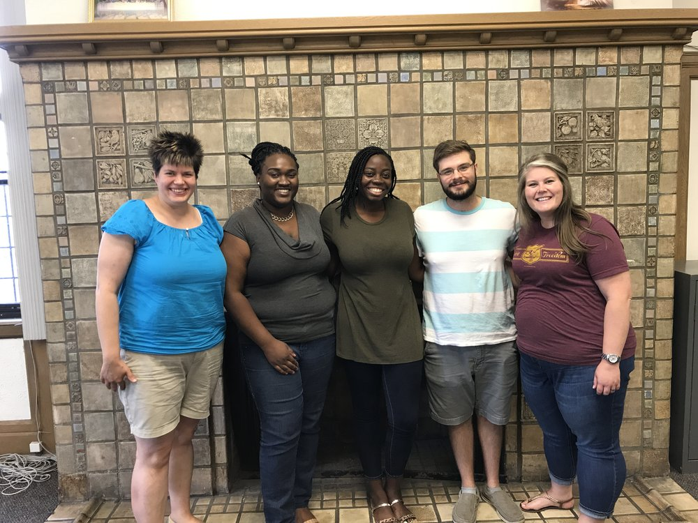 Our Detroit Affiliate! Left to right: Amy Brown (NOAH Project Executive Director), Lynda Sylvian (Motown Mission US-2), Grace Okerson (NOAH Project US-2), Isaac Dunn (NOAH Project US-2), Sarah Alexander (Motown Mission Director. Not pictured: Paul Perez (Affiliate coordinator).