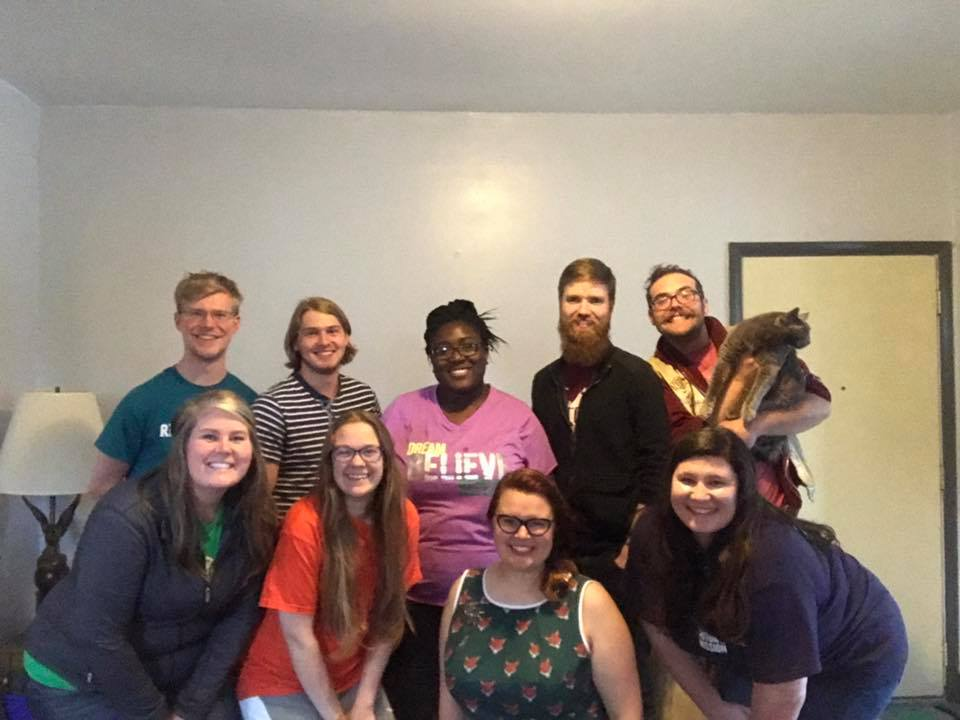 2017 Summer Staff (Including our director, US-2, summer chef, Foundry Sexton, and Foundry security cat).