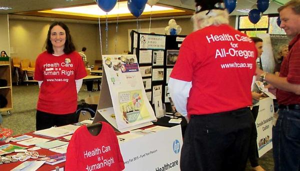 MVHCA volunteers Amy Roy and Max Jones at the HP Fair.