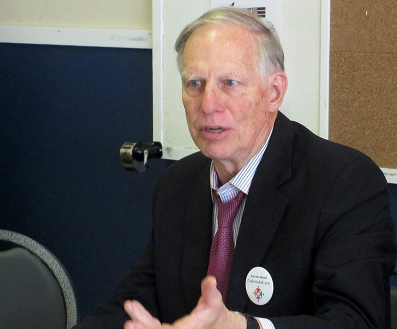 T.R. Reid speaks with Health Care for ALL Oregon Board