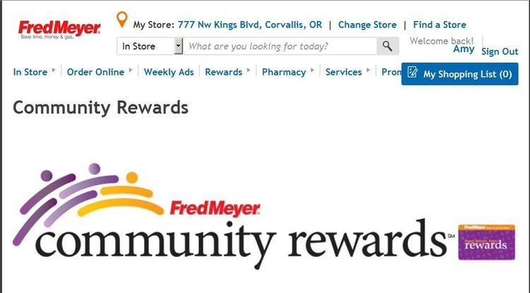 Fred Meyers Donation Link