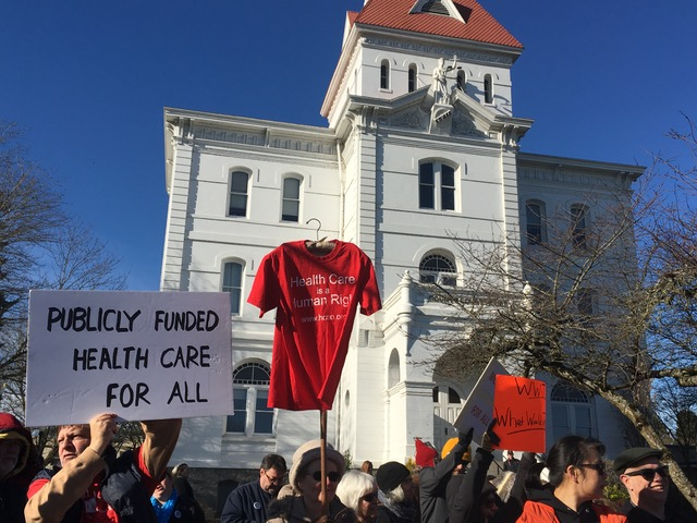 Rally for Health Care - Sunday, January 15, 2 PM Benton