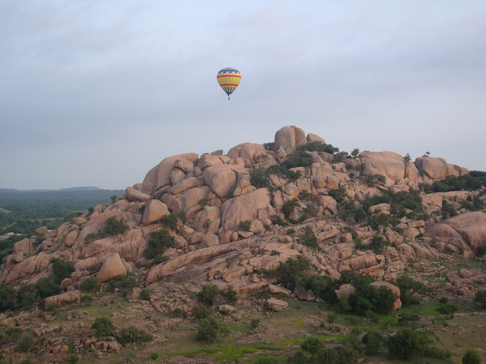 Balloon over Watch Mountain