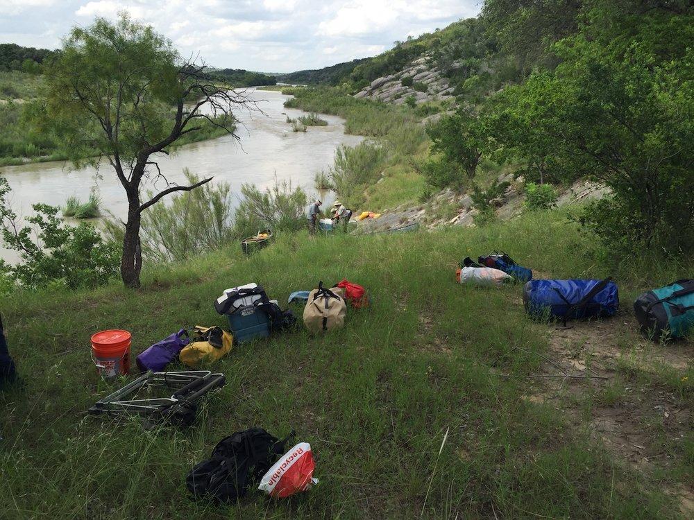 Llano River camp