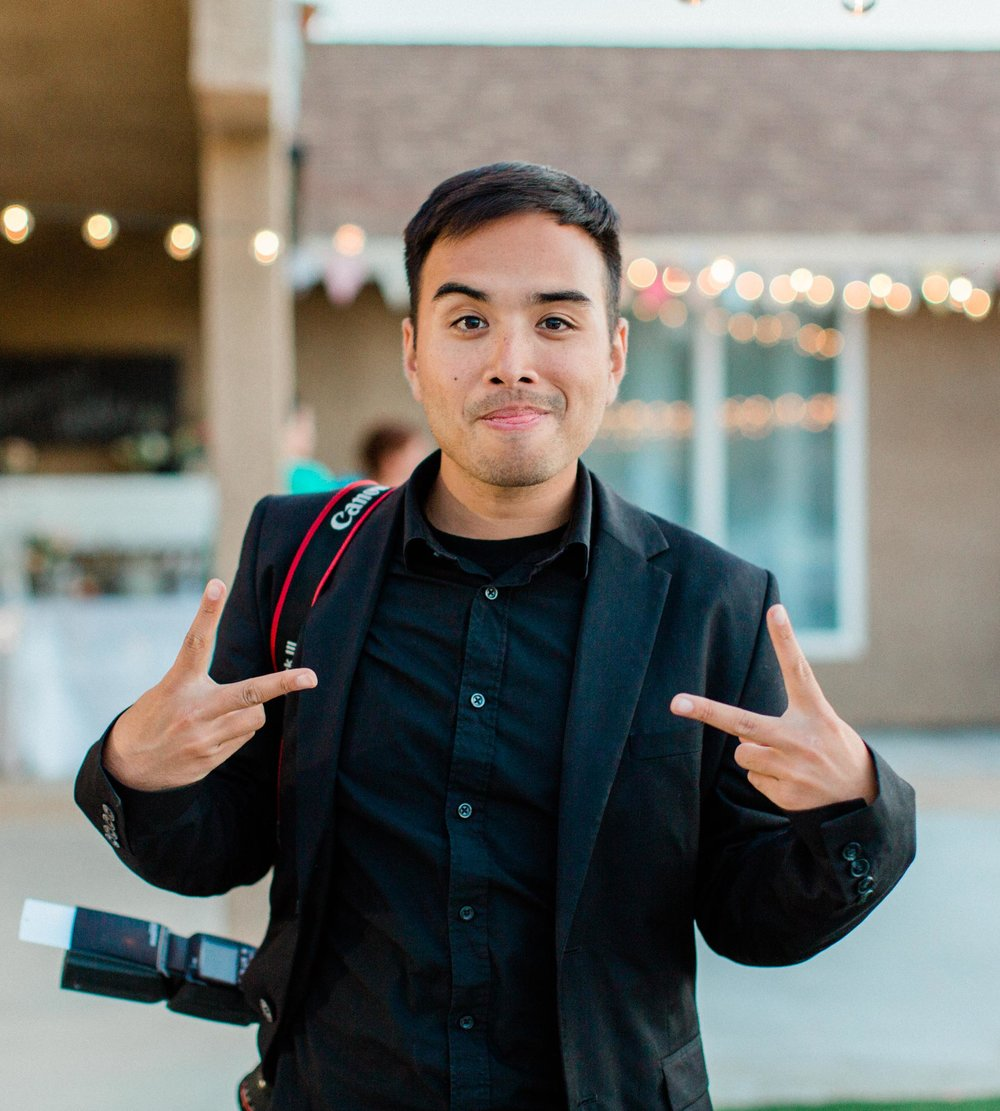 JAYROL - Jayrol joined the BKM Photography team in 2014. With his huge smile and easy laugh, he can fit right in to any party. He shoots on the Fuji system which compliments his super power: stealth candids. When he's not shooting weddings, he's an adventure photographer and photojournalist. We are so happy that Jayrol is on our team.