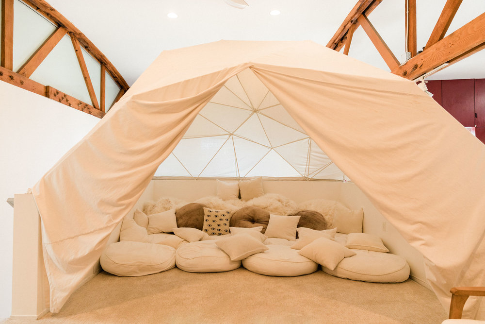 Kim Sing Theatre interior loft yurt