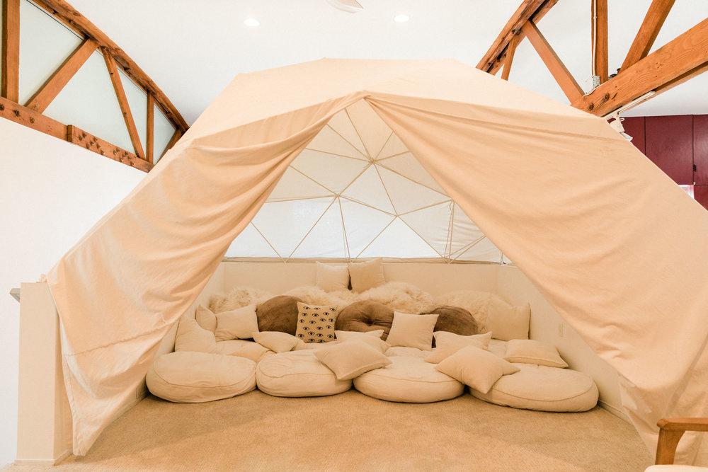 Loft yurt.