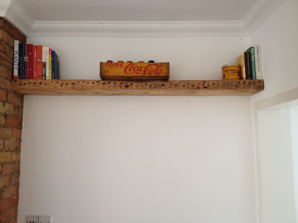 Fixings are completely hidden with floating shelves