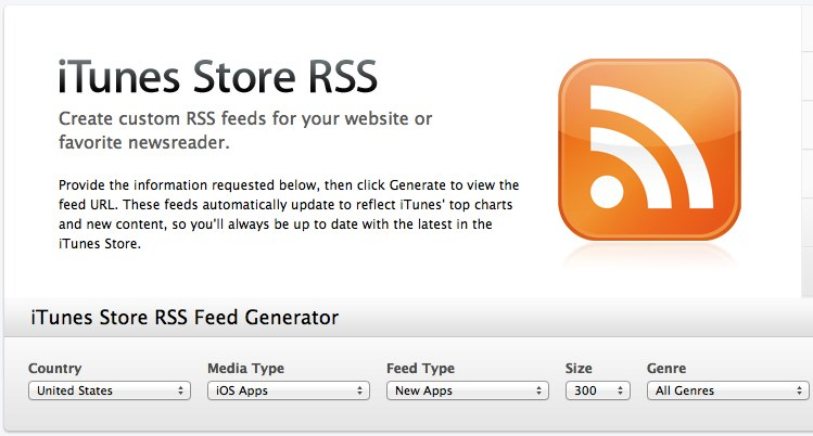 iTunes Store RSS Customization