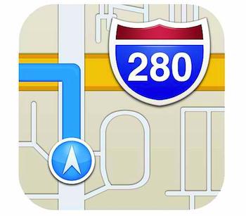 Apple maps icon