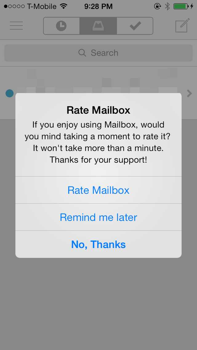 Rate this app dialog box