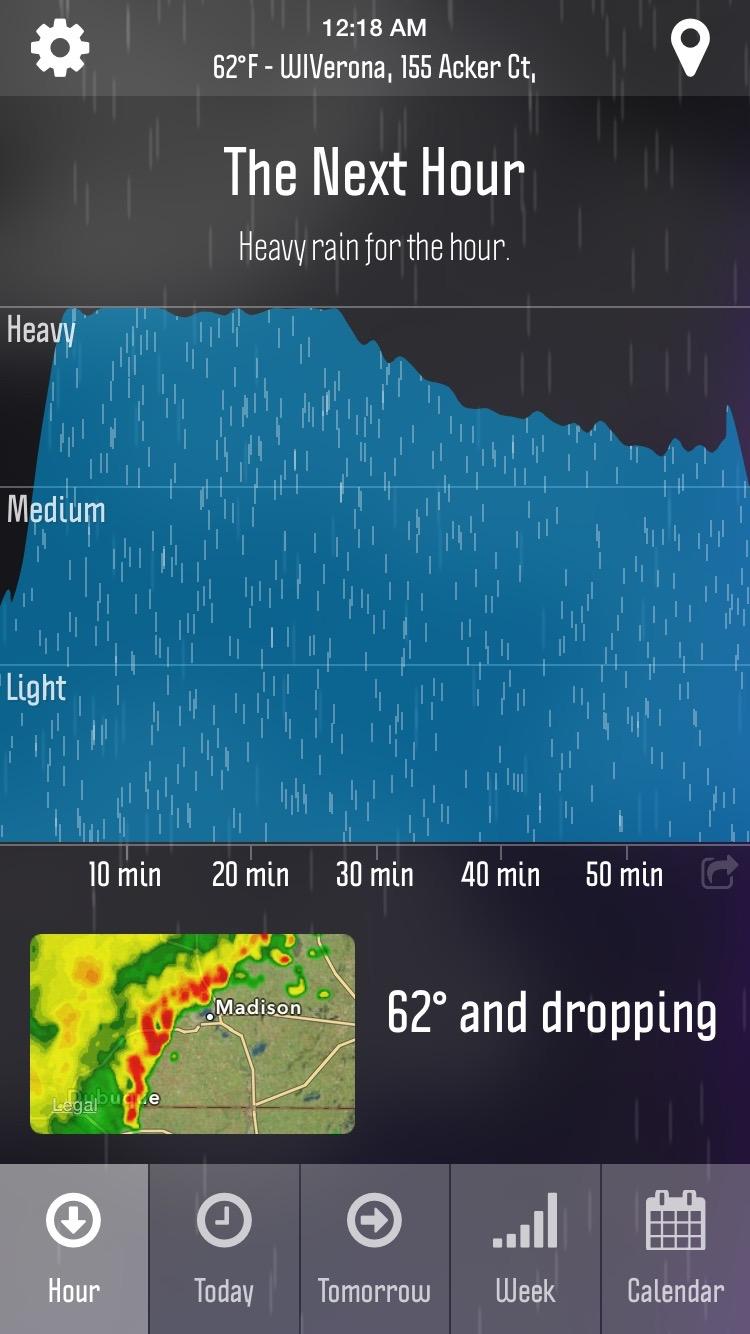 WeatherNerd Hourly View