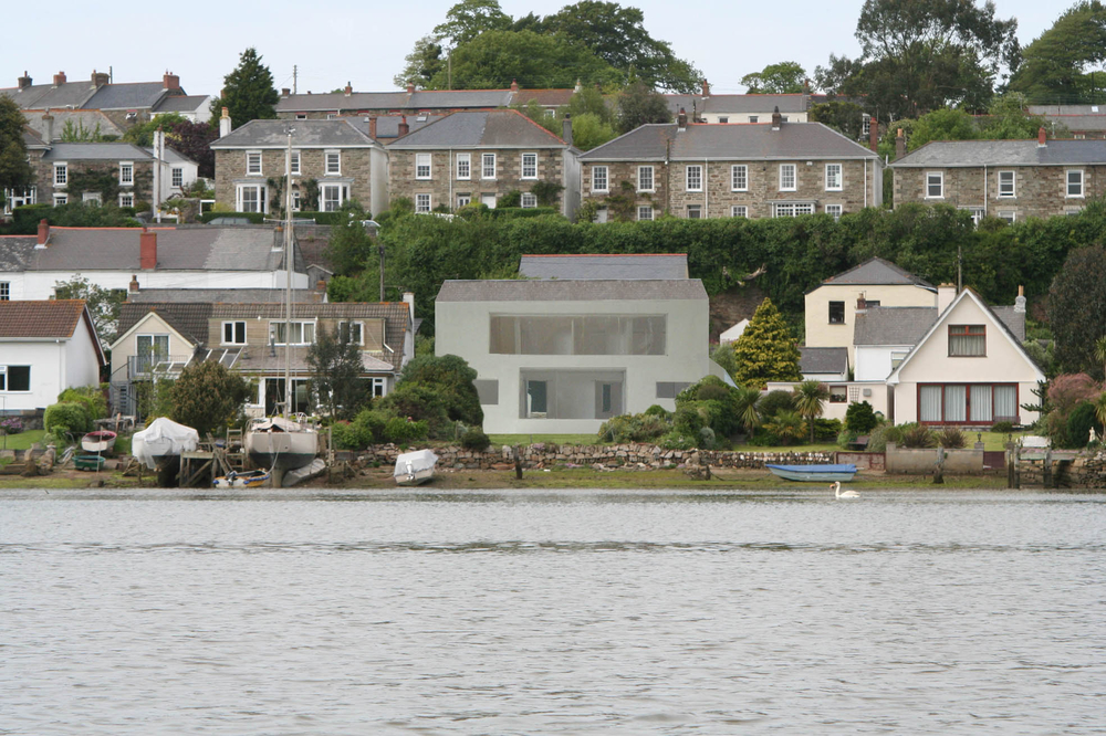 A New build House on an estuary