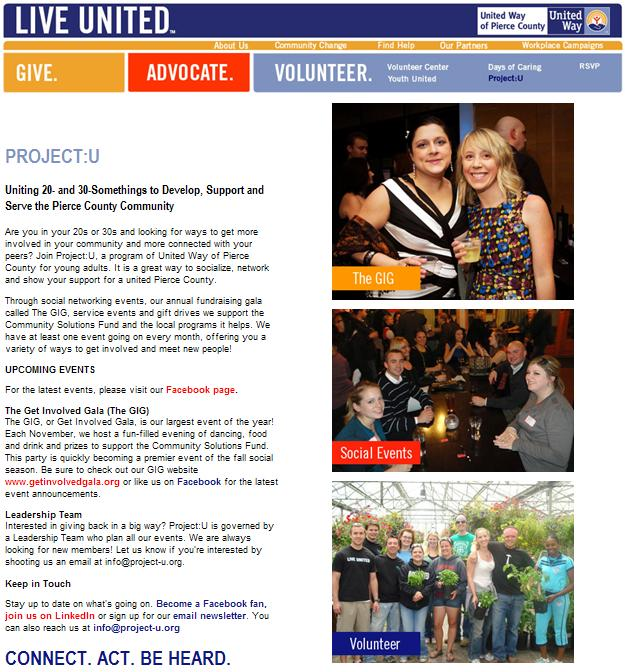 UW of Pierce County - Project U Web page.JPG