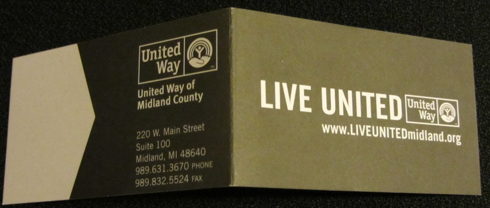 UW of Midland County - elevator speech on business card - outside of card.JPG
