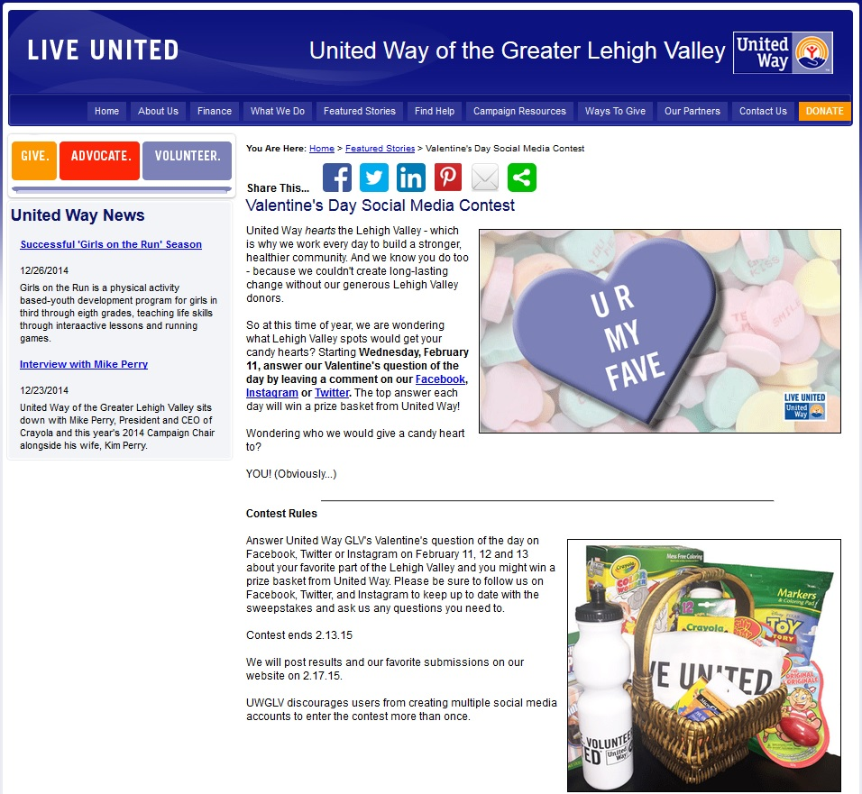 UW of the Greater Lehigh Valley - Valentine's Day Social Media Contest.jpg